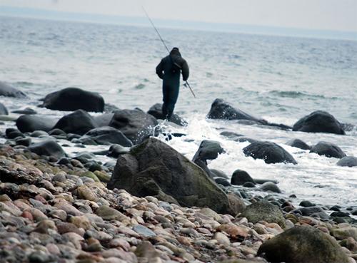 Watangeln an der Ostsee