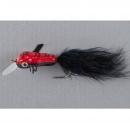 Balzer King Willi Wobbler Fliege rot-schwarz