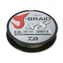 Daiwa J-Braid X8 dark green 0,22 mm