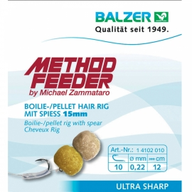 Balzer Feedermaster Hair Rig mit Speer 8 mm Köder 12