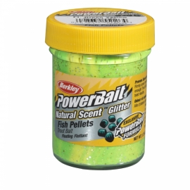 Berkley Powerbait Trout Bait Natural Scent  Liver-Fluo Green Yellow
