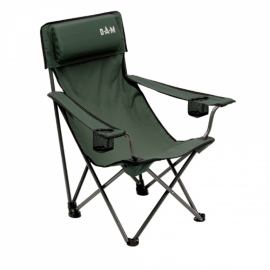FOLDABLE CHAIR with Back padded and 2 cup holders