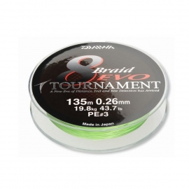 Daiwa Tournament 8 Braid Evo chartreuse 0,12 mm
