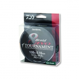 Daiwa Tournament 8 Braid Evo dunkelgrün 0,08 mm