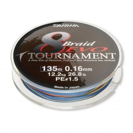 Daiwa Tournament 8 Braid Evo multicolor 0,12 mm