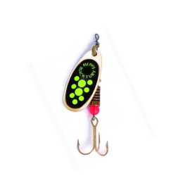 Mepps Spinner Black Fury gold/chartreuse Punkte Fluo 3
