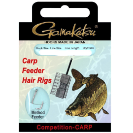 Gamakatsu BKS-3323B CARP FEEDER HAIR RIGS 12cm 0,16mm 14 bronze